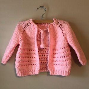 Other - Vintage Hand Made Pink Baby Sweater
